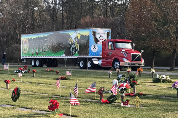 MICAEL ALAMORIAN OF WASTEMASTERS 3RD YEAR FOR WREATHS ACROSS AMERICA 4