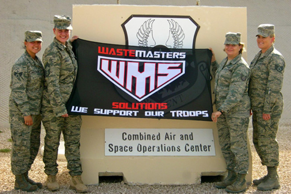 WASTEMASTERS SOLUTIONS SUPPORTS OUR TROOPS DELAWARE